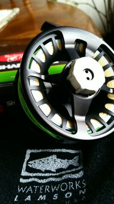 Waterworks Lamson Remix reel loaded with Scientific Anglers Sharkwave GPX | fly fishing #girlsfishtoo