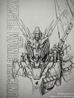 Awesome Gundam Sketches by VickiDrawing     View more at her website: HERE