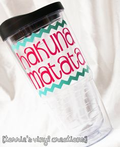 Hakuna Matata Tumbler by JewelVinylCreations on Etsy, $14.00