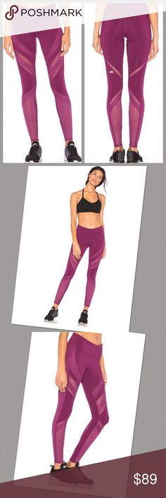 447670b6225f7d Alo Yoga Epic Leggings Purple BNWT Self  81% poly
