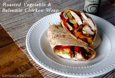 Roasted Vegetable & Balsamic Chicken Wrap