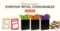 Great everyday essential retail supplies.... carrier bags, Wrapture tissue, ticketing, accessories and so much more ...