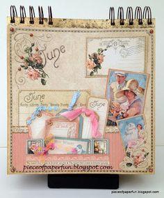 "Marina's piece of paper...: Bursdagskalender med papirer fra Graphic 45 ""Place in time"""