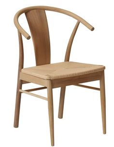JANIK Spisestol | Bohus Wishbone Chair, Dining Chairs, Interior Design, Furniture, Home Decor, Nest Design, Decoration Home, Home Interior Design, Room Decor