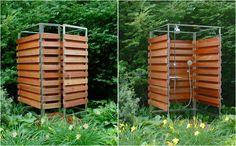 Летний душ в минималистском стиле