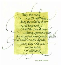 Old Irish Blessing; Calligraphy by Jane Brenner