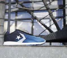 Converse black and blue Novo Racer trainers