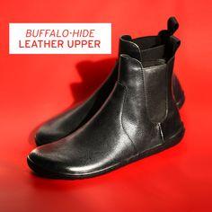 Women's Minimalist Buffalo-Leather Boots