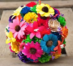 wedding bouquet flowers | Rainbow Wooden Flowers Wedding Bouquet and Home Decoration ...