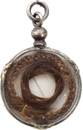 mourning pendant, with hairwork