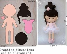 Cheap Cutting Dies, Buy Directly from China Suppliers: girl with powder clothes wood moulds die cut accessories wooden die Regola Acciaio Die Misura (MY ) Felt Crafts Diy, Doll Crafts, Diy Doll, Handmade Crafts, Fabric Crafts, Felt Doll Patterns, Sewing Patterns, Motif Mandala Crochet, Felt Decorations
