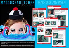 free sailorhat tutorial and pattern in German