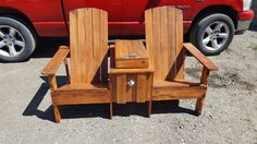 Adirondack cooler bench,  pallet wood