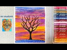 Hello friends, In this video I show you how to draw colourful sky Scenery drawing with oil pastels for kids-step by step- Beginners-how to draw tree with oil. Oil Pastel Drawings, Oil Pastels, Scenery, Kid, Youtube, Color, Child, Landscape, Landscapes
