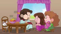 Martha - Little Bible Heroes animated children's stories Preschool Sunday School Lessons, Toddler Sunday School, Preschool Bible Lessons, Sunday School Crafts, Preschool Crafts, Toddler Class, Bible Story Book, Bible Story Crafts, Bible Stories