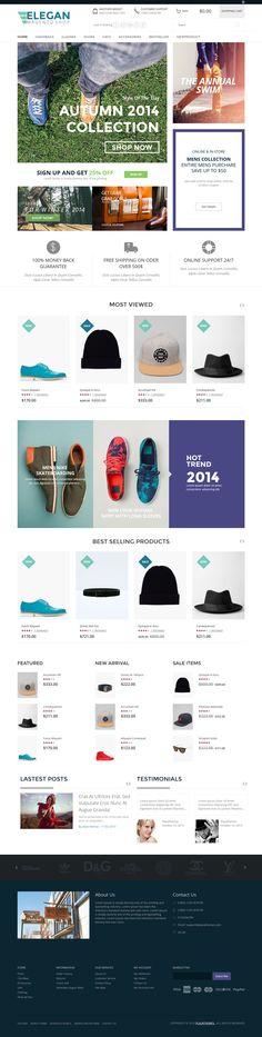 Elegan - Fashion Responsive Magento Theme #website #webshop #ecommerce Download: http://themeforest.net/item/elegan-fashion-responsive-magento-theme/9240538?ref=ksioks