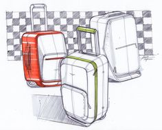 Rolling luggage sketch-a-day-168