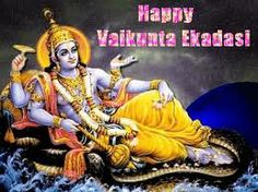 VAIKUNTA EKADASI - Vaikunta ekadashi is an auspicious day dedicated to lord Vishnu. Aani Shukla Ekadashi(the 11th day of Aani month - according to the Tamil calender) is the day when Lord Ranganathan enters enters into a state of shayana(rest) for four months.