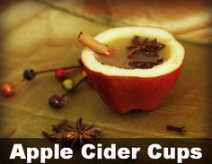 Apple Cider and Apple Cups