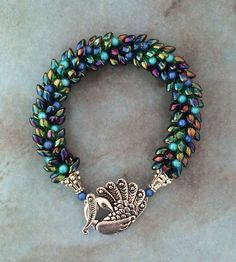 Check the way to make a special photo charms, and add it into your Pandora bracelets. DIGITAL DOWNLOAD - Peacock Kumihimo Bracelet - Tutorial Pattern Only - Instant Download