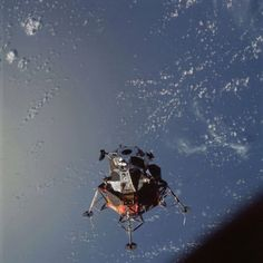 Manned Test of Lunar Hardware in Earh Orbit. The Apollo 9 mission was the first manned flight of all Apollo lunar hardware in Earth orbit and first manned flight of the lunar module. Lunar module pilot Russel L. Schweickart performed a 37 minute EVA. Human reactions to space and weightlessness were tested in 152 orbits.