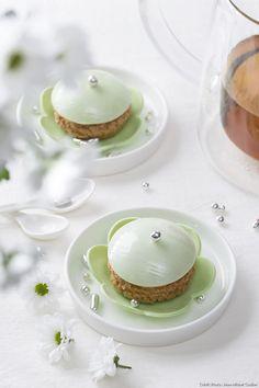 Fleur-chou pistache - Régal But First Coffee, Panna Cotta, Baking, Cake, Ethnic Recipes, Desserts, Michel, Food, Restaurant