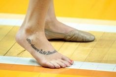 if i ever get a tatoo.... it would be a quote on my foot having to do with dance.... something like this.... dance-your-heart-out