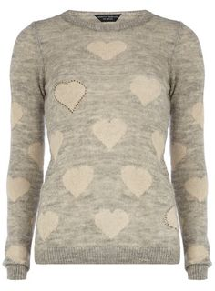 Grey mini hearts jumper