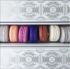 Silver macaron box from ladurée