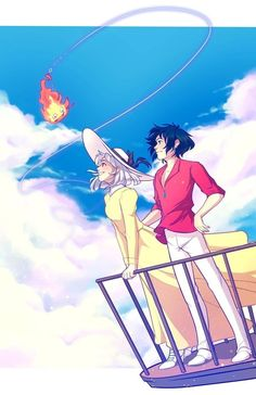 Studio Ghibli Art, Studio Ghibli Movies, Manga Anime, Anime Art, Totoro, Castle Movie, Personajes Studio Ghibli, Howl And Sophie, Studio Ghibli Characters