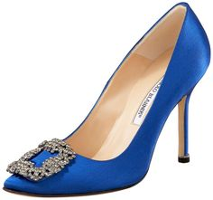"""The Manolo Blahnik """"Something Blue"""" shoe. One of, if not the most beautiful shoes in the world. One day."""