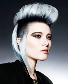 Not your mother's mohawk! Hair by Michelle Rooney of the U.K. #hotonbeauty hotonbeauty.com
