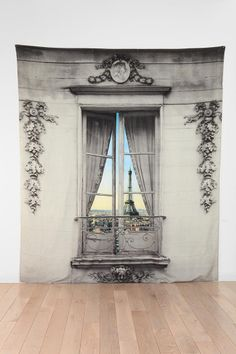 Paris Window View Tapestry » I need this in front of my bike in the future home gym!