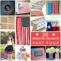 20 Patriotic Projects Part Four! So much inspiration! -- Tatertots and Jello