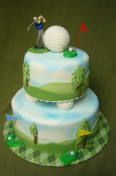 Cakes Golf Cakes M . (This is an affiliate link) Click photo for more details. Golf Birthday Cakes, Sports Themed Cakes, 90th Birthday Parties, Homemade Birthday Cakes, Golf Cakes, Funny Birthday, Birthday Wishes, Happy Birthday, Fancy Cakes