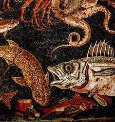 Detail of mosaic from Herculaneum, taken by Hans Ollermann