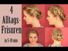 4 ALLTAGSFRISUREN - Leicht & Schnell | Back To School - YouTube