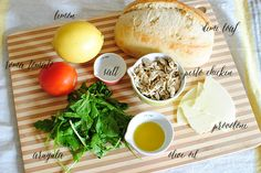 Arugula + Pesto Chicken Salad with Provolone Crostini