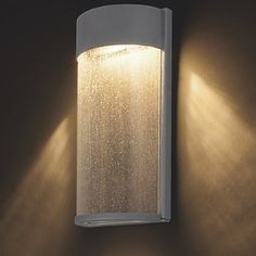 Rain Indoor/Outdoor LED Wall Sconce by Modern Forms - Wall Sconces . Outdoor Wall Sconce, Outdoor Wall Lighting, Wall Sconce Lighting, Outdoor Walls, Modern Lighting, Wall Sconces, Lighting Ideas, Indoor Outdoor, Hinkley Lighting