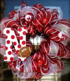 Nebraska Husker Wreath