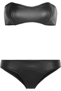 5ea93c885c2 Black rubber neoprene bikini Bikinis