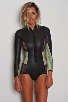 Long sleeve wet suit.
