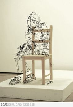 Awesome sculpture made with wire by DAVID OLIVEIRA