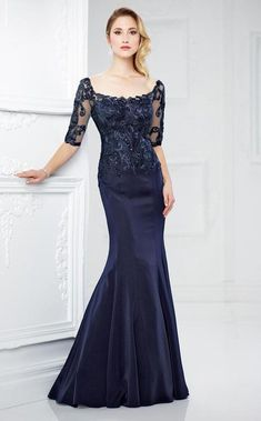Buy the P by moncheri2017fall at CoutureCandy.com, shop moncheri2017fall 217937 Elegant Lace Mermaid Gown now for attractive discounts.