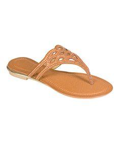 $14.99 Brown Sparkle Madura Sandal