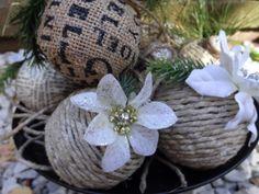 rustic handmade christmas ornaments - Google Search