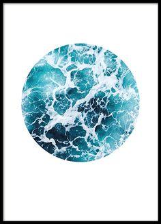 Sea foam circle, plakat i gruppen Plakater og posters / Størrelser / 50x70cm hos Desenio AB (8499)