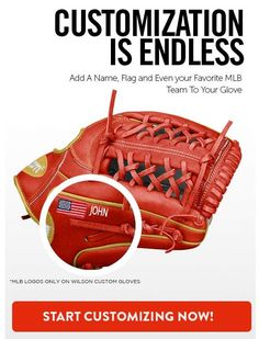 Build your own Wilson or glove today at JustGloves. Create a glove as unique as you and it will have a 100 day trial through JustGloves! Fastpitch Softball Gloves, Own Wilson, Baseball Shop, Slow Pitch, Mlb Teams, Nifty, How Are You Feeling, Free Shipping