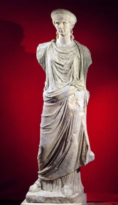 "5. Antonia The Younger 1st Century Roman Imperial Sculpture  She is wearing her hair in what the text book calls a ""tutulus"""