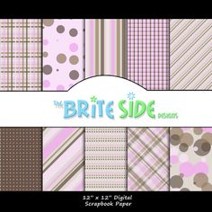 SWEET GIRL Collection  Digital Scrapbooking Paper by TheBriteSide, $4.00